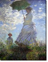 Картина Мадам Моне и ее сын (Woman with a Parasol)