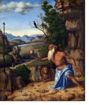 Постер Святой Иероним в пейзаже (Saint Jerome in a Landscape)