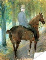 Плакат Г-н Роберт С. Кассат на коне (Mr. Robert S. Cassatt on Horseback)
