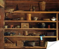 Плакат Деревенские полки (Rustic shelves)