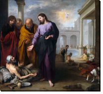 Картина Христос лечит паралич (Christ healing the Paralytic at the Pool of Bethesda)