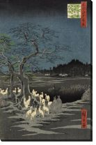 Картина Ночные лисы (1857) (Fox Fire on New Year's Eve at Garment Nettle Tree at Ōji)