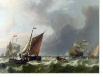 Постер Голландский флот (Dutch Men-of-war off Enkhuizen)