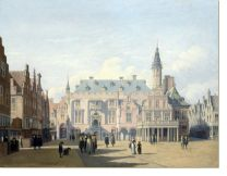 Постер Рынок и ратуша в Харлеме (The Market Place and Town Hall, Haarlem)