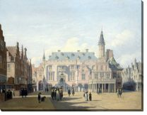 Картина Рынок и ратуша в Харлеме (The Market Place and Town Hall, Haarlem)