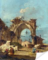 Плакат Разрушенная арка (A Caprice with a Ruined Arch)