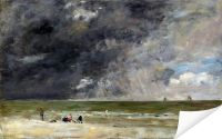 Плакат Пляж в Трувиль 2 (The beach at Trouville)
