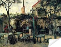 Плакат Терраса кафе на Монмартре ( Terrace of a Cafe on Montmartre)