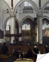 Плакат Интерьер в Амстердаме 2 (The Interior of the Oude Kerk, Amsterdam)