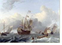 Постер Голландский флот (The Eendracht and a Fleet of Dutch Men-of-war)