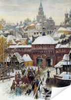 Плакат Москва. Конец XVII века (Moscow. The end of the XVII century)