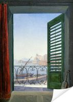 Плакат Балкон с видом на Неаполитанский залив (Balcony overlooking the Bay of Naples)