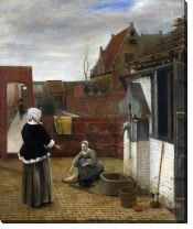 Картина Женщина и ее горничная во дворе (A Woman and her Maid in a Courtyard)