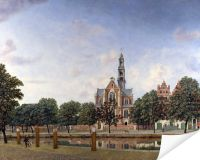 Плакат Вид на Вестеркерк, Амстердам (View of the Westerkerk, Amsterdam)