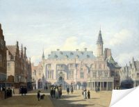 Плакат Рынок и ратуша в Харлеме (The Market Place and Town Hall, Haarlem)