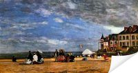 Плакат Пляж в Трувиль (The beach at Trouville)